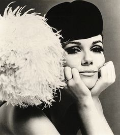 Nicole de Lamargé.1967. First French top model in the sixties .