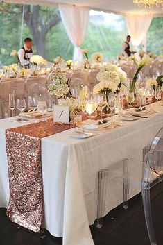 Color Theme: Luxury Gold Wedding Decorations ❤ See more: http://www.weddingforward.com/gold-wedding-decorations/ #weddings #WeddingIdeasTable