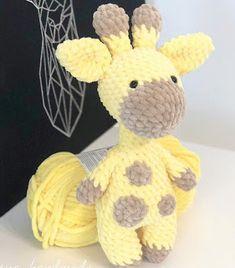 Amiguroom Toys - - Crochet this plush toy giraffe using a free amigurumi pattern by Maresya Handmade. To create a cute giraffe you need Himalaya Dolphin Baby yarn and 5 mm crochet hook. Crochet Giraffe Pattern, Plush Pattern, Crochet Animal Patterns, Stuffed Animal Patterns, Crochet Patterns Amigurumi, Crochet Animals, Crochet Dolls, Free Pattern, Doll Patterns