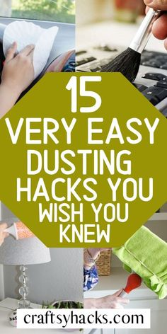 15 Very Easy Dusting Hacks You Wish You Knew What's the best way to dust? Learn these dusting hacks, clean home more efficiently and forget about that dust all around you! Borax Cleaning, Bathroom Cleaning Hacks, Household Cleaning Tips, House Cleaning Tips, Deep Cleaning, Cleaning Crew, Cleaning Schedules, Apartment Cleaning, Kitchen Cleaning