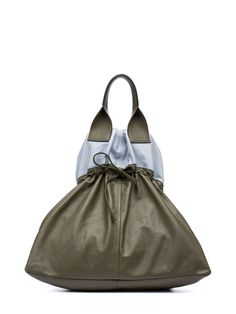 PARKA Bag In Natural Satin Nappa Leather from the Marni Spring/Summer 2020 collection Trendy Handbags, Fashion Handbags, Fashion Bags, Leather Handle, Leather Bag, Leather Handbags, Leather Backpack, My Bags, Purses And Bags