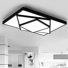 Ceiling Lamp For Bedroom Factories And Mines Inventive Led Modern Iron Acryl Square Rectangle Minimalism Led Lamp.led Light.ceiling Lights.led Ceiling Light Lights & Lighting