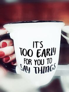 The perfect tea mug for the mornings! #ElevateTheEveryday