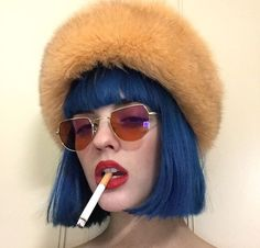 Blue Hair Wig of Human Hair with Baby Hair Brazilian Lace Front Wig Short Bob Wigs for Women Brazilian Lace Front Wigs, Short Bob Wigs, Aesthetic Hair, Coloured Hair, Dye My Hair, Pastel Hair, Wig Hairstyles, Hair Inspiration, Short Hair Styles