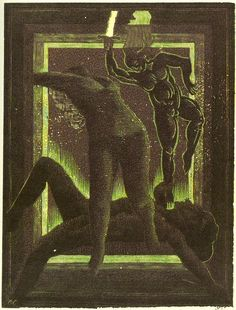 osef Váchal (Czech, 1884 – Perfect Magic of the Future, 1922 Figure Painting, Macabre, Occult, Contemporary Artists, Art History, Printmaking, Old Things, Arts And Crafts, Fine Art