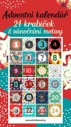 24 šablon s vánočními motivy k výrobě adventního kalendáře. Součástí je i 5 tipů, jak krabičky použít, A4 list s motivy čísel k dalšímu výtvarnému tvoření a list s prázdou šablonou krabičky k dotvoření dětmi. Více fotografií a info v odkaze :) #adventnikalendar #adventnitvoreni #vanocnitvoreni #vyrabimesdetmi 9 And 10, Playing Cards, Advent, Playing Card Games, Game Cards, Playing Card