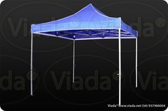 Carpa plegable color azul 3x3 Viada® Optima  #carpa #carpaplegable #carpaplegablebarata http://viada.net/tienda/