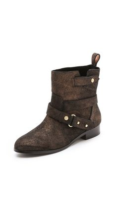 Twelfth St. by Cynthia Vincent West Metallic Suede Booties- on sale 7 and 8.5 left