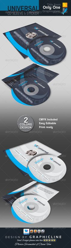 Cd Sleeve  Sticker Mockups  FontsLogosIcons    Mockup