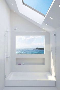 Give me a shower and a view, please #bathroom #architecture #white #minimalism #light