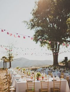 outdoor countryside sit-down parties!