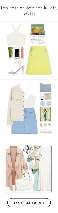 """""""Top Fashion Sets for Jul 7th, 2016"""" by polyvore ❤ liked on Polyvore featuring Squair, Versace, RAHUA, BCBGMAXAZRIA, AERIN, Wanderlust + Co, under50, skirtunder50, MANGO and Violeta by Mango"""