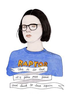 Enid de portrait à l'aquarelle Ghost World PRINT par ohgoshCindy, £9.00
