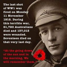When you go home, Tell them of us and say For your tomorrow we gave our today First World War - Lest we forget