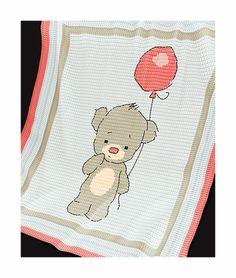 CROCHET Pattern Baby Blanket Pattern Baby Bear von PatternWorldUK