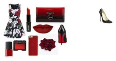 """Red♥"" by timeadivekyova on Polyvore featuring Brian Atwood, Dolce&Gabbana, NARS Cosmetics, Lord & Berry, Anastasia Beverly Hills and Christian Louboutin"