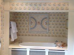 Shell panel above bath Linda Fenwick Shell Design