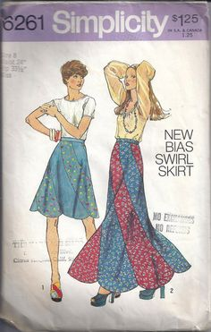 swirl bias skirts from the 1970's - Google Search moda gitana me acueredo muy bien !era linda!