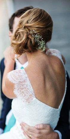 Bride's side #chignon bridal #hair ideas ToniK #Wedding #Hairstyles ♥ ❶