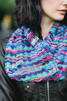 Inspired by Kaffe Fassett, this is easy to work and sublime to wear, adding a blast of colour to any ensemble.