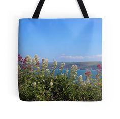Sea And Flowers At North Cornwall