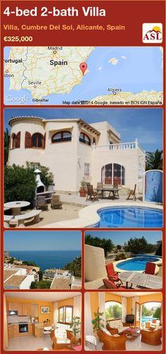 4-bed 2-bath Villa in Villa, Cumbre Del Sol, Alicante, Spain ►€325,000 #PropertyForSaleInSpain