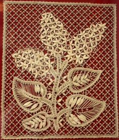 "Bobbin lace from the Russian town of Vologda. Panel ""Lilac"", 1985 – 87. #Russian #lace"