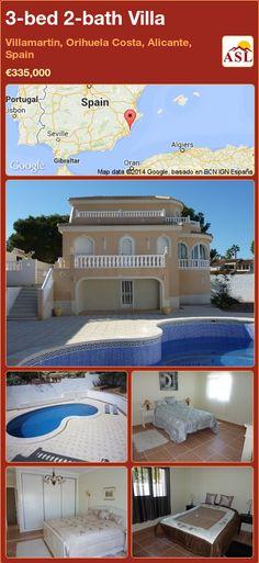 3-bed 2-bath Villa in Villamartin, Orihuela Costa, Alicante, Spain ►€335,000 #PropertyForSaleInSpain