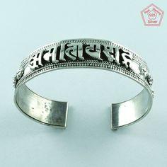 Attractive Kada Design 925 Sterling Silver Oxidised Bangle Jewelry P3340…