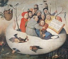 The Concert in the Egg (oil on panel), Hieronymus Bosch (c.1450-1516) (after) / Musee des Beaux-Arts, Lille, France / Giraudon / The Bridgeman Art Library
