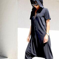 Plus Size Jumpsuit, Black Jumpsuit, Designer Jumpsuits, Rompers Women, Jumpsuits For Women, Maxi Noir, Baggy, Cotton Jumpsuit, Vestidos