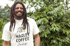 Rohan Marley at the Marley Coffee Farm in Jamaica