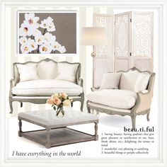 Peaches & Cream by frenchfriesblackmg on Polyvore featuring polyvore, interior, interiors, interior design, home, home decor, interior decorating, Zentique, AERIN, York Wallcoverings, Abigails, Bomedo and Distinctive Designs