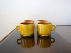 Vintage Stangl Coffee Mugs Lot of 4 by VintageCale on Etsy, $14.00
