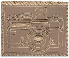 Camera linocut cards / Fee ist mein Name