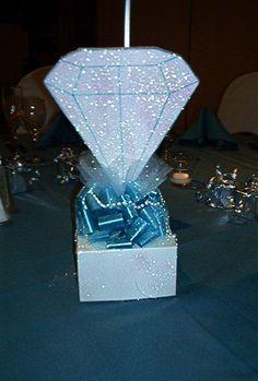 denim diamond centerpieces - Google Search