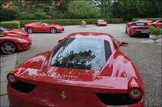 Beautiful Red Italians. Ferrari. Photography. Automotive. Cars. Supercars.