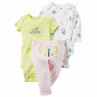 Carter's Little Bloom 3PC Bodysuit & Pant Set