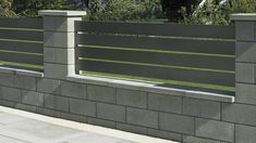 Semmelrock products enhance the landscape we live in: from private gardens to public places, streets and walkways. House Main Gates Design, House Fence Design, Modern Fence Design, Front Gate Design, Front Garden Entrance, Front Door Landscaping, Landscaping Retaining Walls, Backyard Patio Designs, Backyard Fences