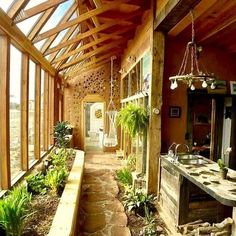 Architecture with the Earthship Sustainable Home - Winter Garden .- Architektur mit dem Earthship Sustainable Home – Wintergarten Ideen Architecture with the Earthship Sustainable Home / - Future House, Earth Homes, Natural Home Decor, Natural Homes, Home Decor Inspiration, Decor Ideas, Decorating Ideas, Renting A House, My Dream Home