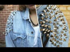D.I.Y | Shoulder studded denim jacket http://www.youtube.com/watch?v=uvmcadb4aEg=relmfu