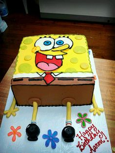 Spongebob Squarepants cake by Brittny Miller with Artisan Kitchen in Paducah, Ky