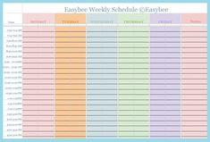 Great scheduling templates:) easybee schedule