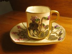 Beautiful Royal Worcester china demitasse cup and by EmmaPhidelia