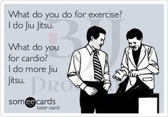 What do you cross train to make your Jiu-Jitsu better? More Jiu-Jitsu. Martial Arts Quotes, Martial Arts Workout, Boxing Workout, Brazilian Martial Arts, Bjj Memes, Funny Memes, Hilarious, Krav Maga Techniques, Training Quotes