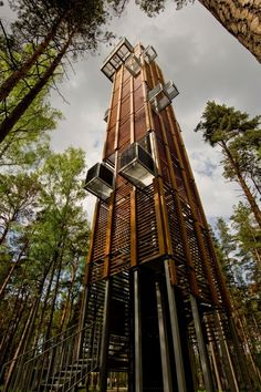 'observation tower in jurmala' by ARHIS architects, jurmala, latvia image & arnis kleinbergs Architecture Cool, Landscape Architecture, Installation Architecture, Amazing Buildings, Oeuvre D'art, Wanderlust, Around The Worlds, Exterior, Outdoor