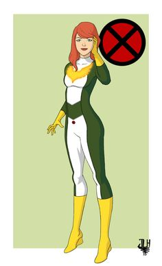 It was really hard to give Jean a new look. Her Phoenix costume is so iconic but everything is just kind of exists. I like her Marvel Girl outfit but th. Marvel Dc, Marvel Girls, Comics Girls, Marvel Heroines, Marvel Characters, Female Characters, Marvel Comic Books, Comic Books Art, Comic Art