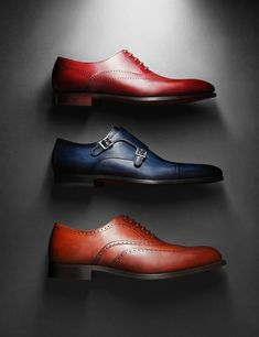 Beautiful brogue shoes and double monk shoes. Creative still life photography of fashion accessories. By luxury goods still life photographer, Josh Caudwell. For commercial, advertising, product and editorial. London, New York, Paris, Milan.