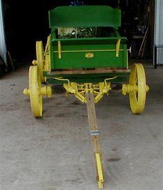 Restored John Deere wooden wagon on Steel wheels for sale | Wagons ...