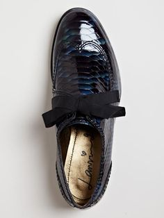 Lanvin Women's Imitation Reptile Print Derby Shoe.